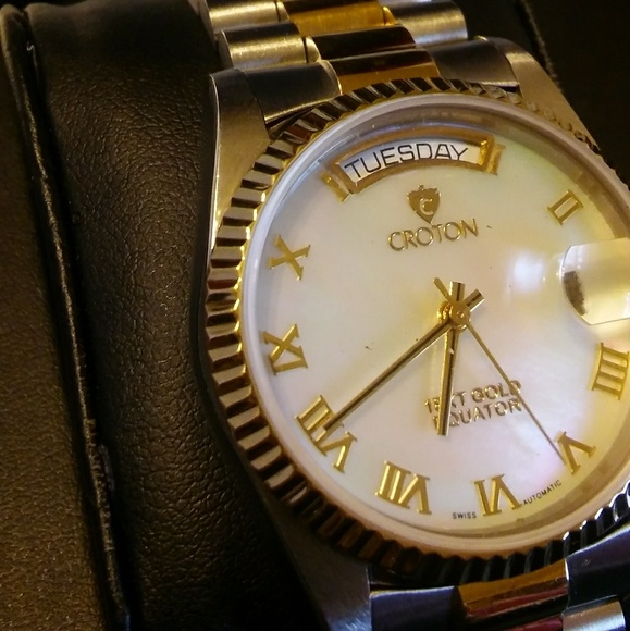 098d7d0a253 Croton Other - Mens 18k gold   SS Croton president watch